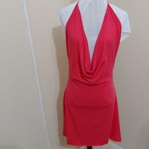 AM:PM by Espiral Low V Cowl Halter Dress 3X / 4X